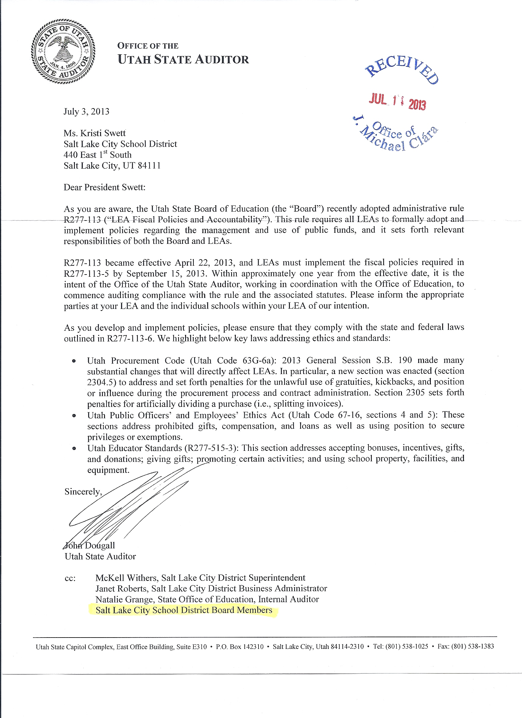 school superintendent cover letter Superintendent's letter to parents regarding school safety  it is only through  practicing lockdowns, fire drills, duck-and-cover and.