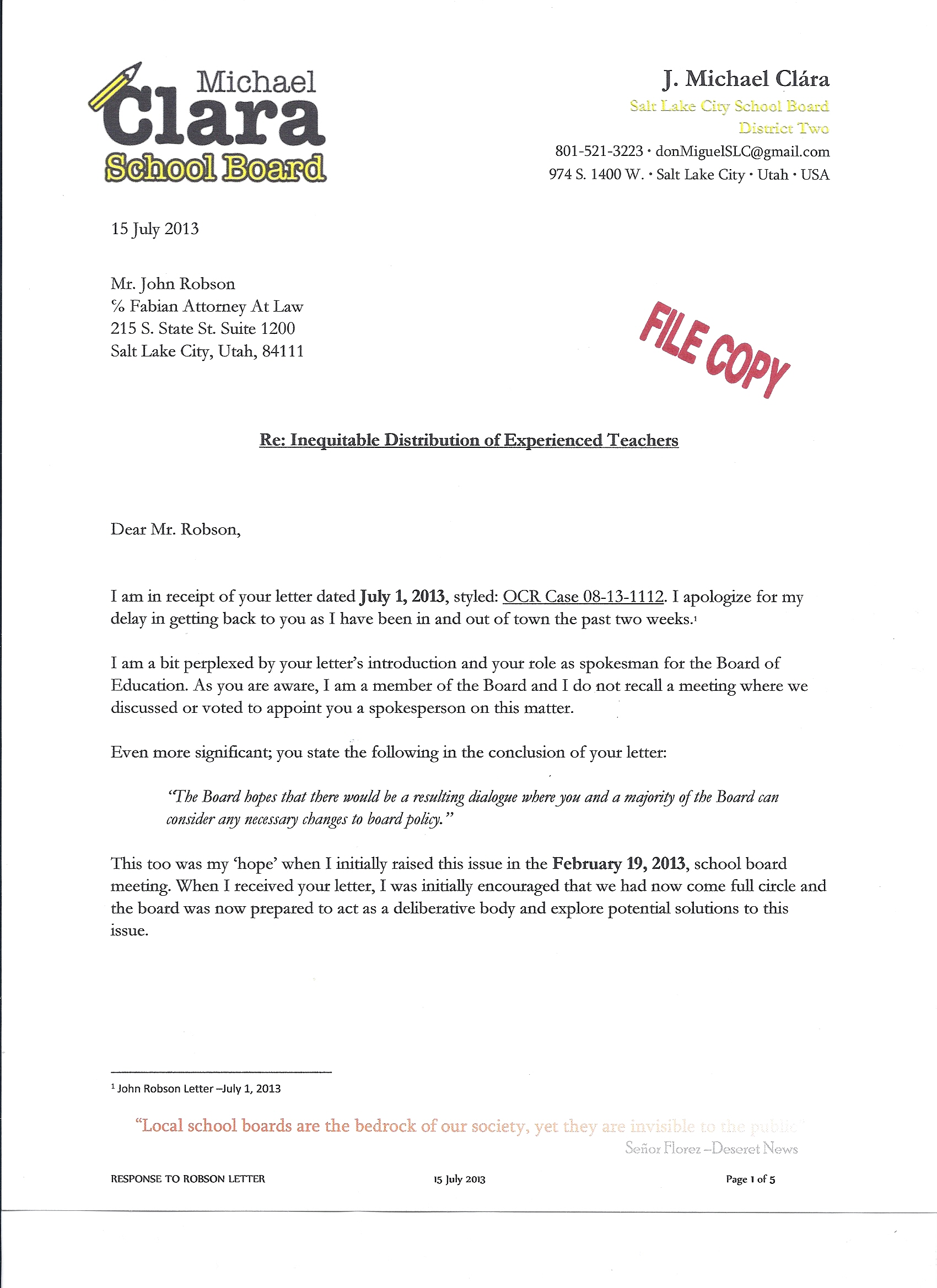 Michael8217s response to school district attorney about ocr clararepsonserobson071513jpg aljukfo Image collections