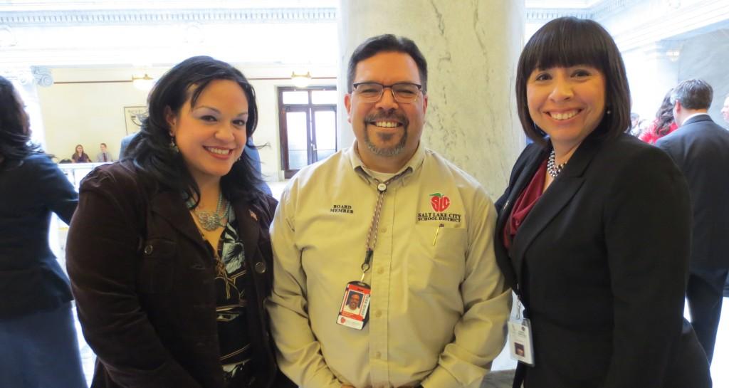 Senator Robles & Michael & Representative Romero