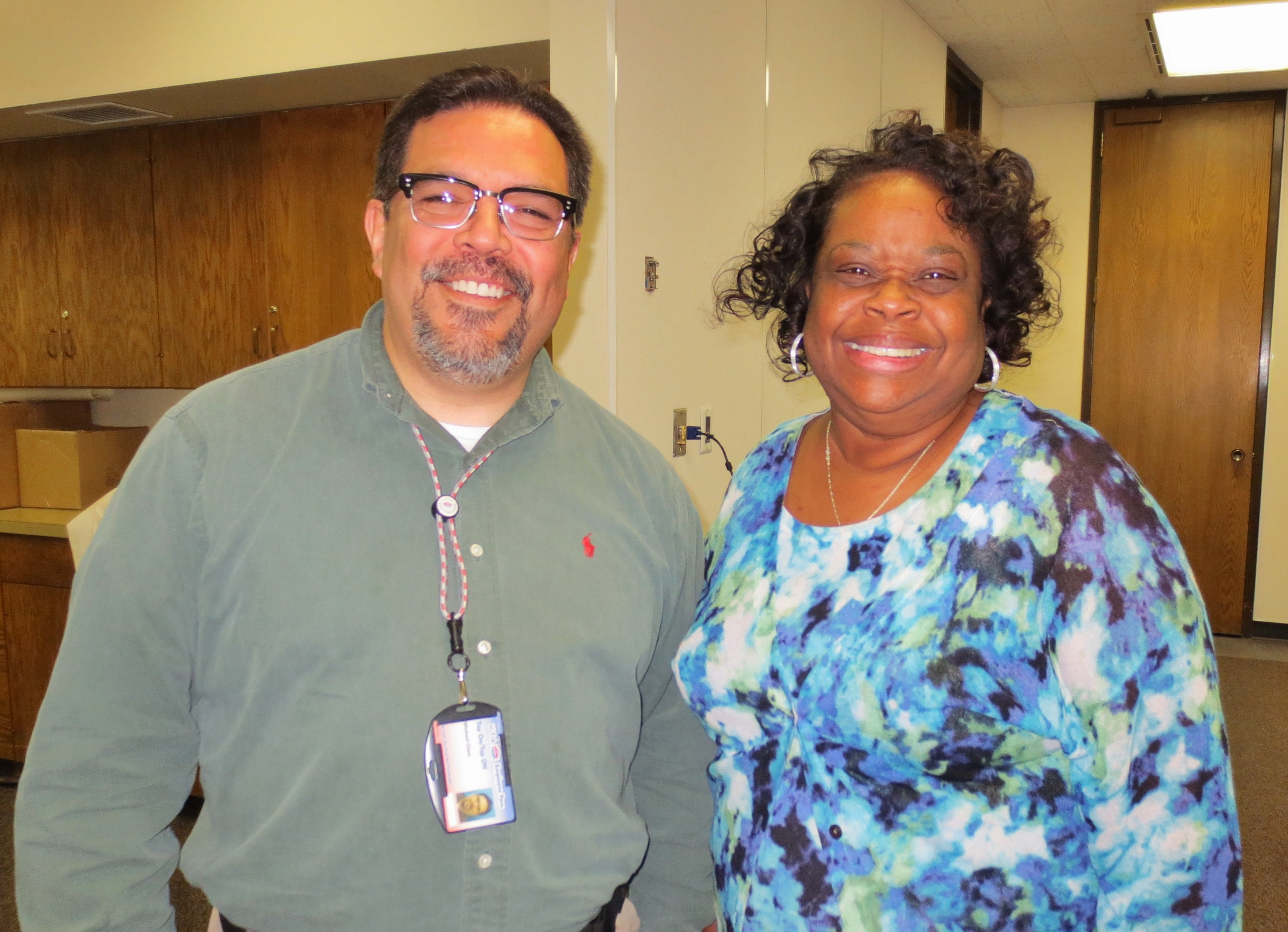 Michael with Kathleen Christy, Assistant Superintendent - Summer of 2014