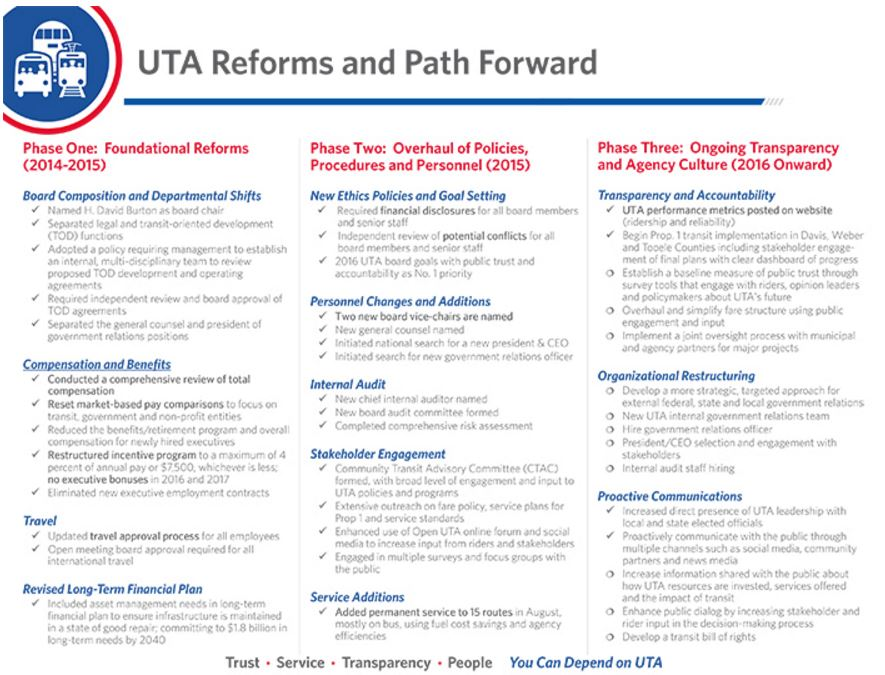 From UTA Web Page under TRUST